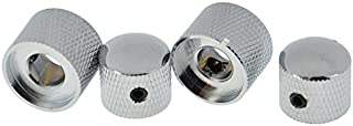2PCS Dual knurled Concentric Knobs Tuning Control,Tone & Volume Knobs Chrome