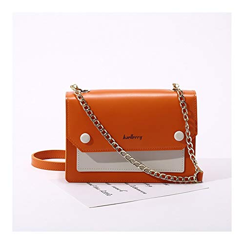 GF- women's bags Frauen-Schnalle Handytasche Metallkette Umhängetasche Multifunktions Korean Umhängetasche (Color : Orange)