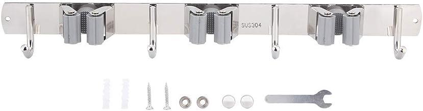 support de vadrouille, support de balai de vadrouille de couleur grise cintre de vadrouille en acier inoxydable 304, grand...