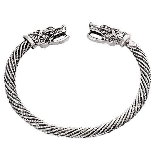 LANSS Tiener Wolf Hoofd Armband Indische Sieraden Mode Accessoires Viking Armband Mannen Polsband Manchet Armbanden Voor Vrouwen Bangles