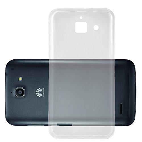 Cadorabo Hülle für Huawei Ascend G730 in VOLL TRANSPARENT - Handyhülle aus flexiblem TPU Silikon - Silikonhülle Schutzhülle Ultra Slim Soft Back Cover Hülle Bumper