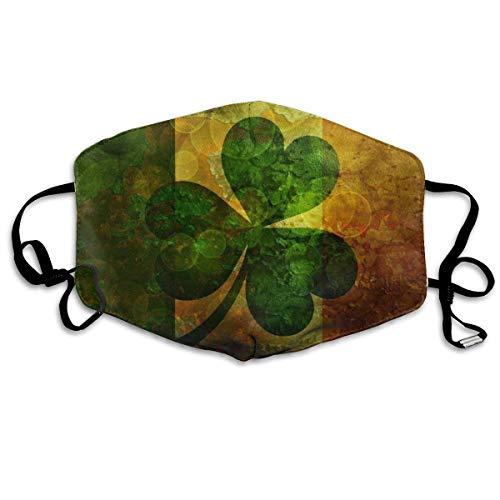 Mundabdeckung für das tägliche Anziehen, Flagge von Irland Retro-Gesichtsabdeckung