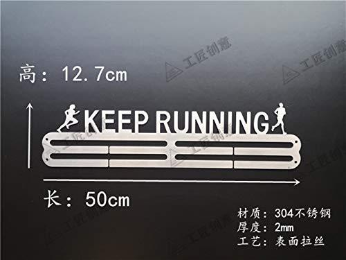 Trihedral-X Marathon medaille ambachtslieden display stand 304 roestvrij stalen frame nieuwe creatieve medaille medaille doos decoratieve wandplank