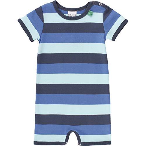Fred'S World By Green Cotton Multi Stripe Beach Body, Multicolore (Blue 019403901), 74 Bébé garçon