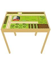 nikima – Película de juego/lámina para muebles para Ikea Lätt mesa de juegos de granja pegatinas para habitación infantil (muebles no incluidos)