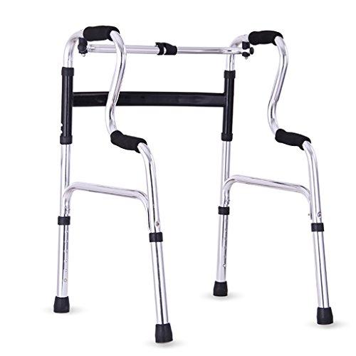 Zfggd andadores Mayor Andador de Cuatro Patas con reposabrazos de caña Andador asistido