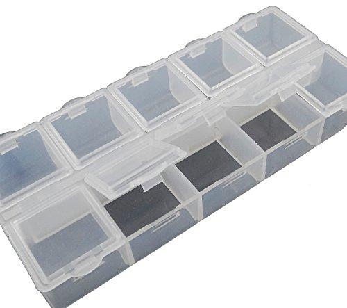 "Perlenbox Perlen Box SORTIERBOX MIT JEWEILS 10 FÃ""CHER SAMMELBOX NEU B27"