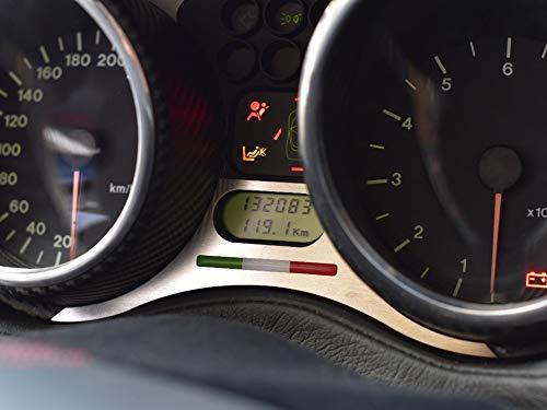 Interieur Stahlabdeckung für Alfa_Romeo GTV & SPIDER (916) - 1 Stück Instrumententafel Platte Zubehör Edelstahl Gebürstet Blenden Cockpit Dekor Mass Angefertigt