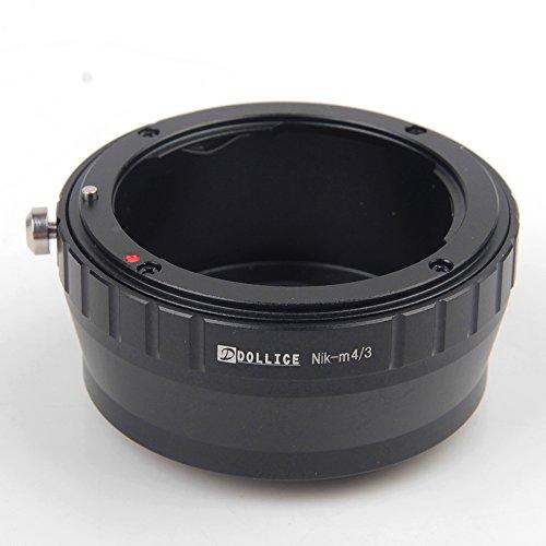 Pixco Adaptador de lente para objetivo Nikon a cámara Micro Cuatro Tercios 4/3 OM-D E-M10 II E-M5 II E-M1 E-M5 E-M10 (AI-Micro4/3)
