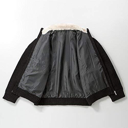 『裏地付き 柔らか ニットジャケット ACPR-2217 しおり型ルーペ付き (LL, ブラック)』の3枚目の画像