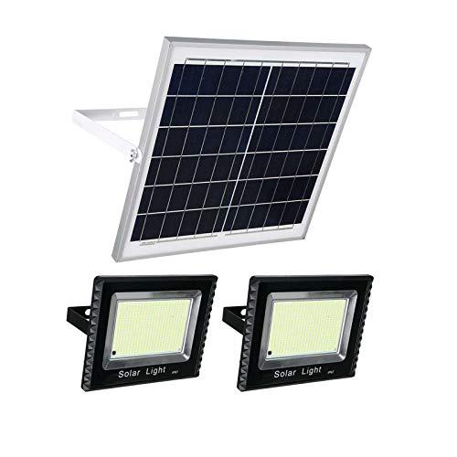 QIAOHUAJIA Focos Led Exterior Solares Iluminacion Exterior Solar 2000W 602 + 602 Leds IP65 Impermeable para El Agua del Jardín del Jardín del Jardín del Jardín
