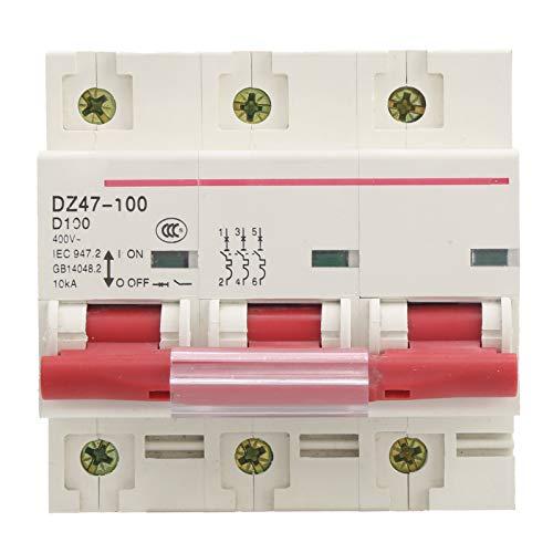 Disyuntor, disyuntor miniatura Protección de interruptor de aire tipo D para el hogar DZ47‑100 3P D80~100A 400V para distribución de energía y protección contra fugas en el hogar