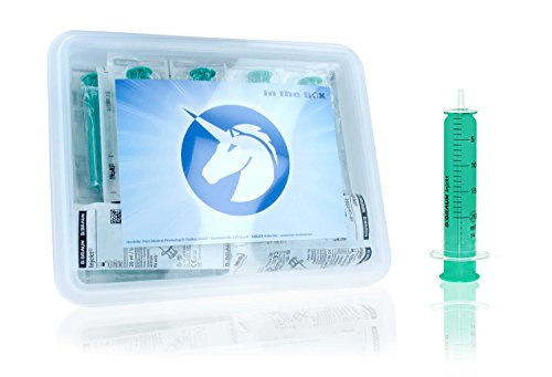 Horn Medical Einmalspritzen Set ohne Kanülen, Hochwertige Spritzen von Braun, einzeln steril verpackt in der praktischen Horn-Box (40 x 20 ml)