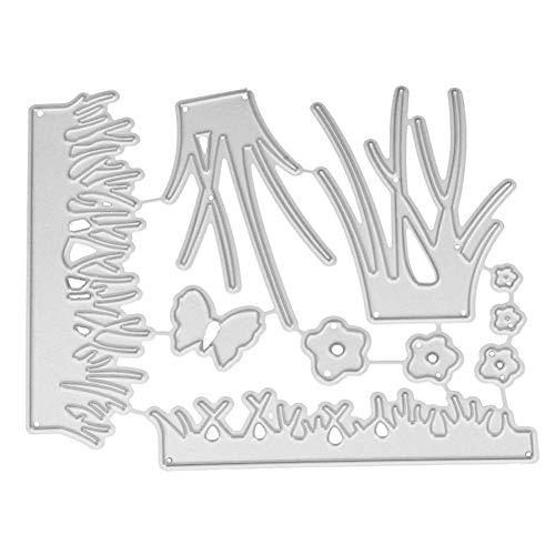 Evertpert Stanzschablonen Metall Stanzformen Gras Schneiden Schablonen für DIY cutting dies Scrapbooking Album, Schneiden Schablonen Papier Karten Sammelalbum Deko