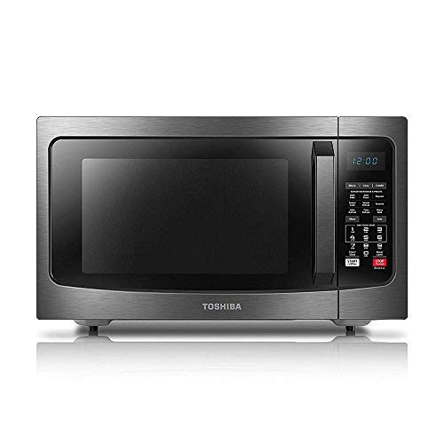 Toshiba EC042A5C-BS Countertop Microwave Oven with Convection, Smart Sensor, Sound On/Off Function and LCD Display, 1.5Cu.ft, Black Stainless Steel