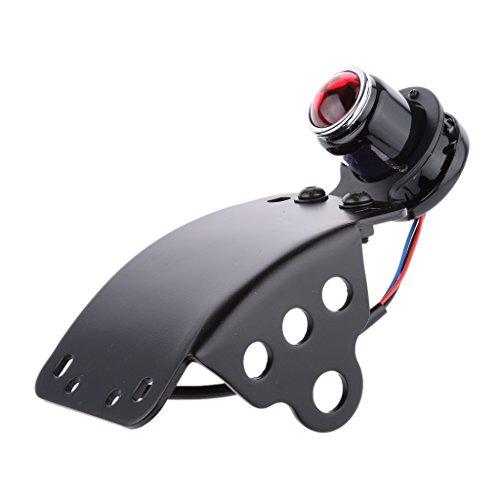 kesoto Motocicleta LED Freno Parada Luz Trasera Lámpara de Funcionamiento Placa de Matrícula Lente de Luz Negro