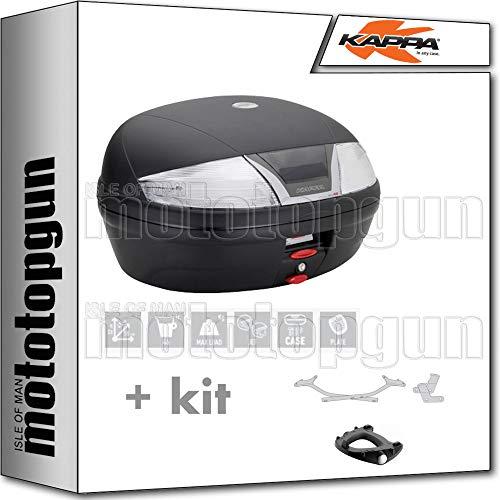 kappa maleta k46nt 46 lt + portaequipaje monolock compatible con yamaha tracer 700 2020 20