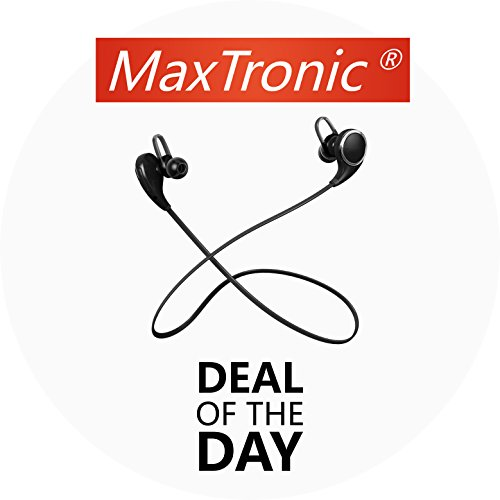 MaxTronic Qy8 V4.1 Wireless Bluetooth Headphones Best In-Ear Noise Cancelling Headphones with Microphone Mini Lightweight Sweatproof Stereo Bass Wireless Bluetooth Headset