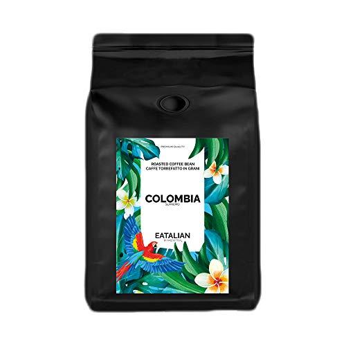 EATALIAN by AMZ BETTER Kolumbien, Geröstete Kaffeebohnen 1 kg, Feiner Kaffee mit Angenehmem Geschmack, 100% Arabica, Intensives Aroma, Made in Italy (geröstet und verpackt in Italien)