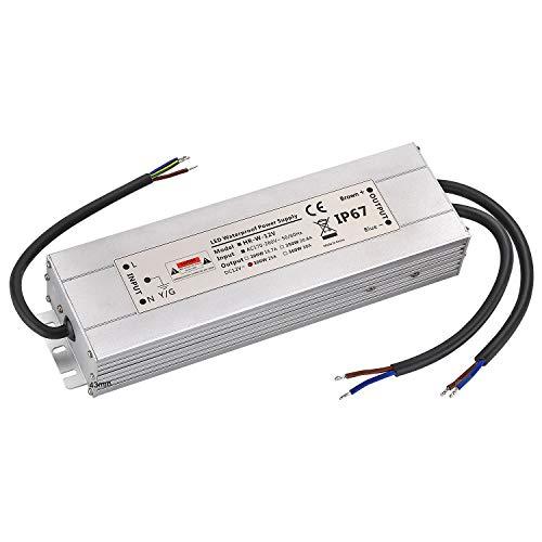 LED Trafo 12V 300W 30A IP67,geeignet für LED Stripes und Leuchtmittel,Upgrade Transformator Netzteil Driver 230V auf DC12V Wasserdicht