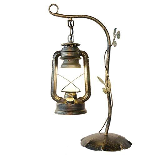 American Einfache Tischlampe Cafe Studie Schmiedeeisen Tischlampe Vintage Retro Tischlampe Kreative Ländlichen Stil Nachttischlampe Laterne XYJGWSTD