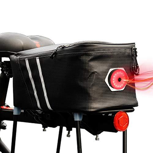 XNY Bolsas Cuadro de la Bicicleta Bolsa de Bicicleta para Posterior portabicicletas Bolsas de Bicicletas del Tronco Bolsa con Correas Reflectante Rojo y Luces traseras de la Bici Accesorios 8L