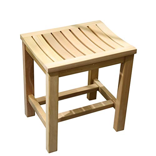 Check Out This XingKunBMshop Bathroom Stool Solid Wood Stool Elderly Pregnant Women Shower Stool Non...