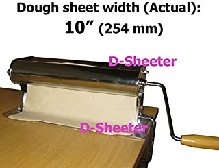 D-Sheeter 10 inch 254mm Dough sheeter Dough roller Pizza crust Pie Pasta