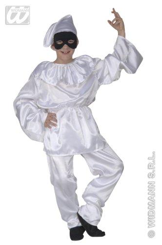 WIDMANN WDM41977 - Costume Per Bambini Pulcinella (140 cm/8-10 Anni), Bianco, XS