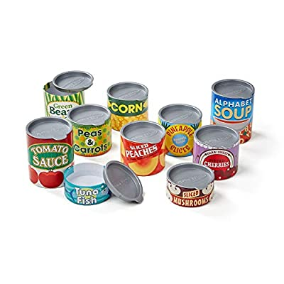 Melissa & Doug Let's Play House! Grocery Cans Play Food Kitchen Accessory - 10 Stackable Cans With Removable Lids from Melissa and Doug