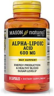 Mason Natural Alpha Lipoic Acid 600MG Capsules