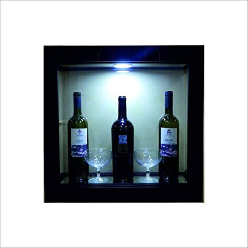 VM ART DESIGN GLASS Vitrine Cadre murales Ethnique Style VMVBR6T-QD50L (wengè Wood)