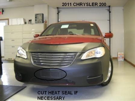 Lebra 2 Piece Front End Cover Black - Car Mask Bra - Fits - Chrysler 200 Sedan & convertible 2011-2014
