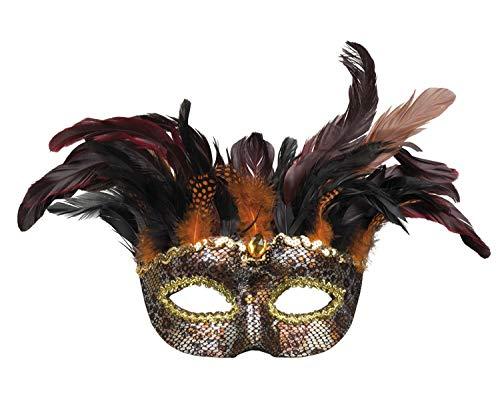 Boland 72218 Augenmaske Voodoo Marasa, Mehrfarbig