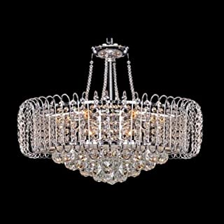 hua Bold and Elegant Pendant Light Hanging Cluster of Crystal Globes and Crystal Beaded Strands
