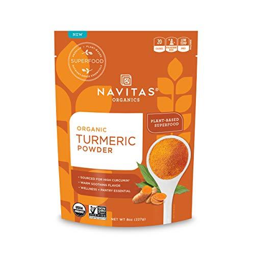 Navitas Organics polvo de cúrcuma, 8 oz. Bolsa orgánica, sin OMG, sin gluten