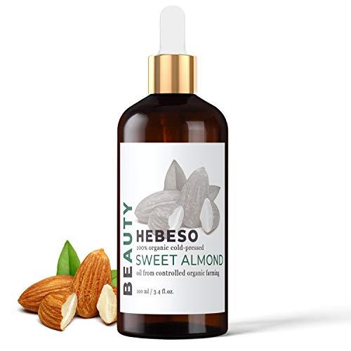 Mandelöl 100% Rein & Natürlich Kaltgepresst 100ml   Fantastisches Massageöl, dass sich leicht verteilen lässt   Der beste natürliche Lippenbalsam, süßer Geschmack   Hilft bei Schuppen