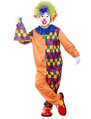 THEE - Costume di carnevale da clown, per Halloween, da uomo e donna