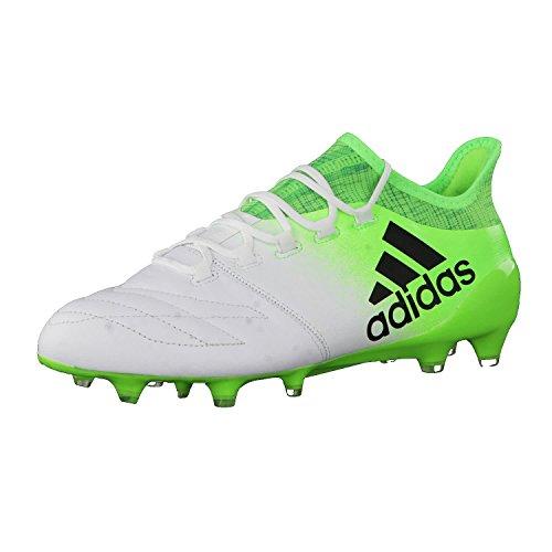 Adidas X 16.1Leather FG Fußballschuh Herren, Weiß(Ftwbla/negbas/Versol) 40