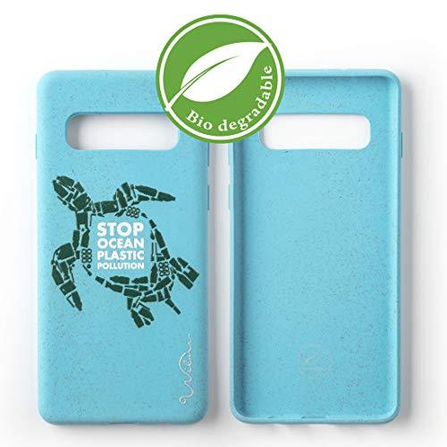 Wilma Umweltfreundliches, biologisch abbaubare Handy Schutzhülle Kompatibel mit Samsung Galaxy S10, Stop Meeres Plastik Verschmutzung, Kunststoff-frei, ungiftig, Vollschutz Hülle - Schildkröte