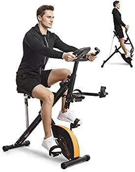Urevo Foldable 3-in-1 Upright Cycle/ Squat Machine/ Row & Ride Trainer