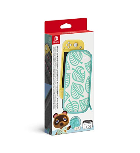 Nintendo Switch Lite Carrying Case (Animal Crossing: New Horizons Edition) & Screen Protector,10004106
