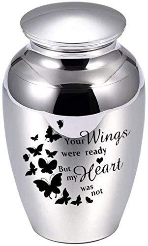 JJPRFO Urnas de cremación para Cenizas humanas 45x70mm Recuerdos de ángel Joyas Ataúdes para Mascotas Urnas funerarias de aleación de Aluminio para Cenizas-B2_45x70mm