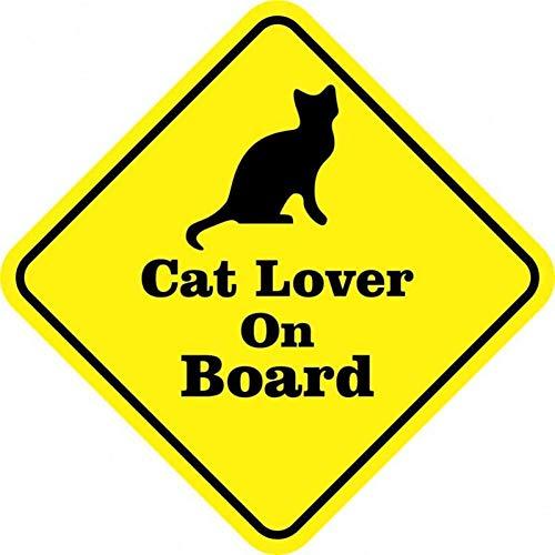 Auto sticker 10.2CM*10.2CM Heerlijk De Zwarte Kat CAT Liefhebber Op Baard Waarschuwing Mark Reflecterende Auto Raam Sticker