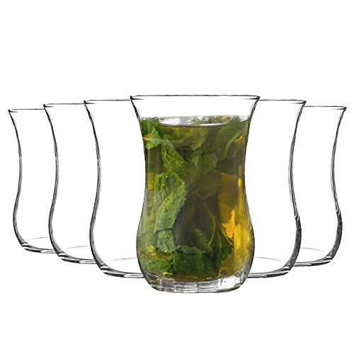 Rink Drink Té café Vasos Set 6pc Klasik Turco - Forma del
