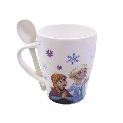 Caneca Porcelana com colher tsumtsum - Sister Olaf