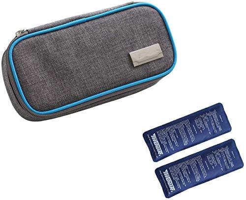 Borsa termica per insulina per diabetici, 2 pezzi, borsa termica per medicine, colore blu
