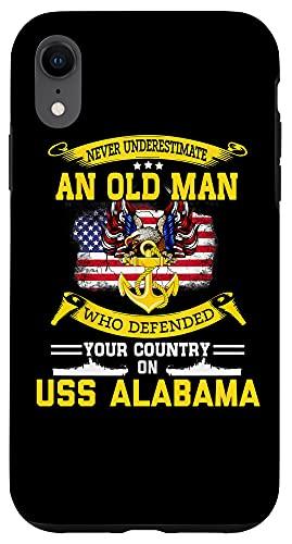 iPhone XR Never Underestimate USS Alabama BB-60 Battleship Case