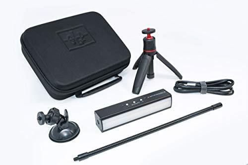 GLP Streamer Deluxe Control Kit, USB-C LED Videolicht, Webcam/Streaming Licht, dimmbar, Farbtemp. 1900-5600K, App-Steuerung, im Koffer mit Stativ, Saugnapf und Schwanenhals