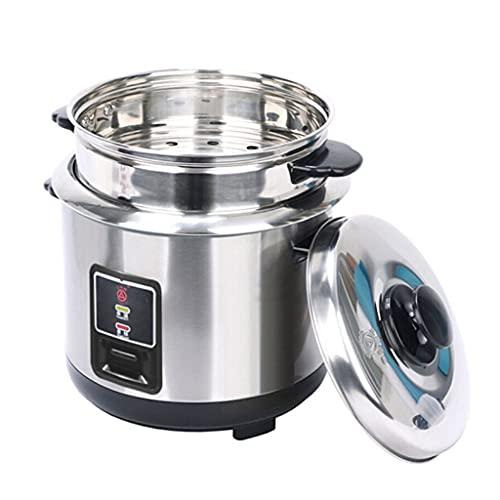 Roestvrijstalen stoomboot rijstkoker, One-Button Control roestvrijstalen binnenpot, geschikt voor 1-5 personen Multifunctionele All-Steel,3L